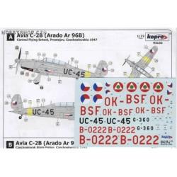 Avia C-2B (Arado Ar 96B) - 1/72 decal