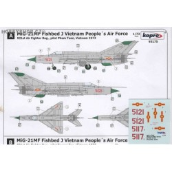 MiG-21MF Fishbed J Vietnam P.A.F. - 1/72 decal
