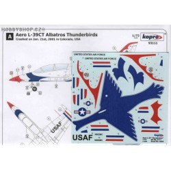 Aero L-39CT Albatros Thunderbirds - 1/72 decal