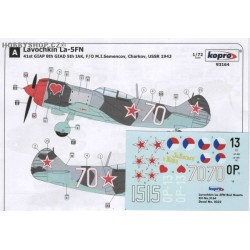La-5FN Red Hearts - 1/72 decal