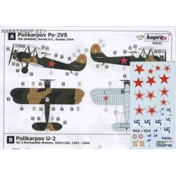 Polikarpov Po-2/U-2 - 1/72 decals