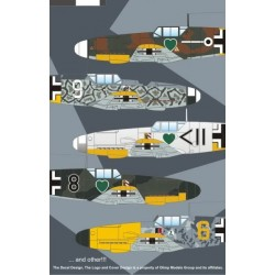 Bf 109F-2 Luftwaffe Experts on East/West Fronts - 1/72 decal