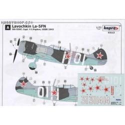 Lavochkin La-5F/FN Hero Popkov - 1/72 decal