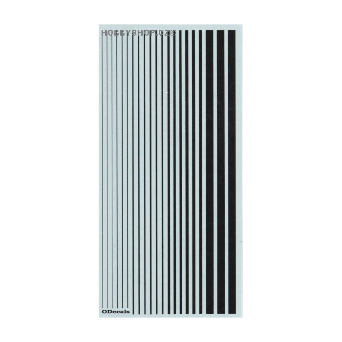 Black (F.S.37038) Slim Strips