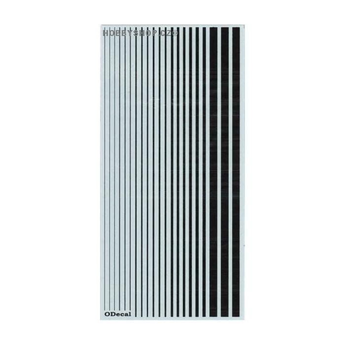 Black (F.S.17038) Slim Strips