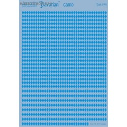 Blue Bavarian rhombuses - 1/48 decal