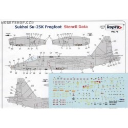 Su-25K Frogfoot Stencil Data - 1/72 decal