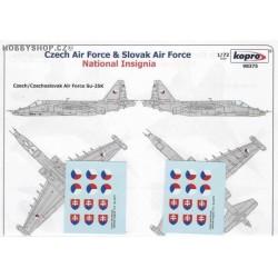Czech & Slovak Nat. Insignia - 1/72 decal