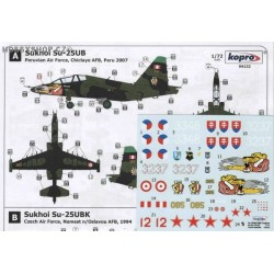 Sukhoi Su-25UB/UBK Frogfoot Two-Seater - 1/72 decal set