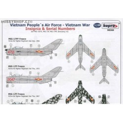 VPAF MiGs Vietnam War Insignia & Serials - 1/48 decal