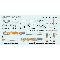 Boeing 737-300 Air Polonia - 1/144 decal