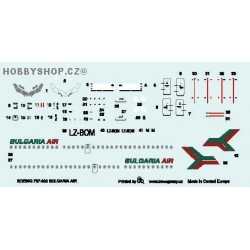 Boeing 737-300 Bulgaria Air - 1/144 decal