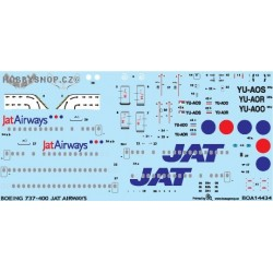 Boeing 737-400 JAT Airways - 1/144 decal