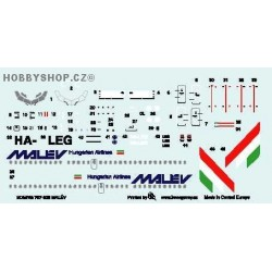 Boeing 737-300 Malev - 1/144 decal