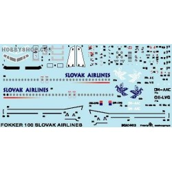 Fokker 100 Slovak Airlines - 1/144 decal