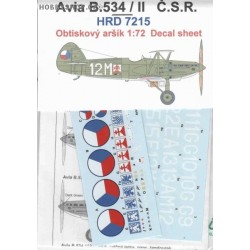 Avia B-534 II. version CSR- 1/72 decal