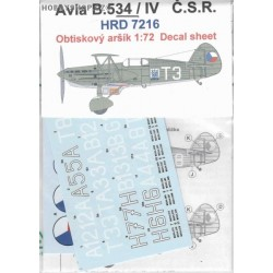 Avia B-534 IV. version CSR- 1/72 decal