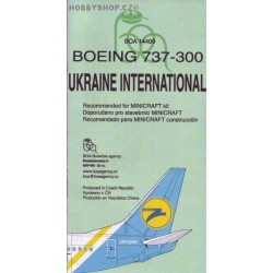 Boeing 737-300 Ukraine Intl. - 1/144 decal