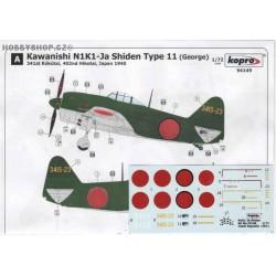 N1K1-Ja Shiden Type 11 - 1/72 decal
