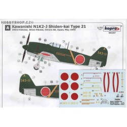 N1K2-J Shiden-kai Type 21 - 1/72 decal