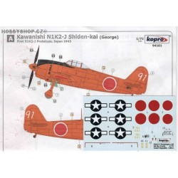 N1K2-J prototype & US - 1/72 decal