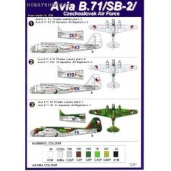 Avia B.71 (SB-2) Czechoslovak AF - 1/72 decal