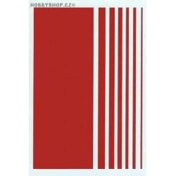 Stripes - dark red