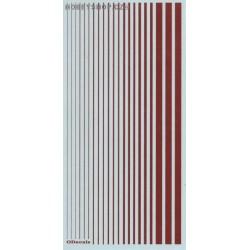 Insignia Red (F.S.31936) Slim Strips