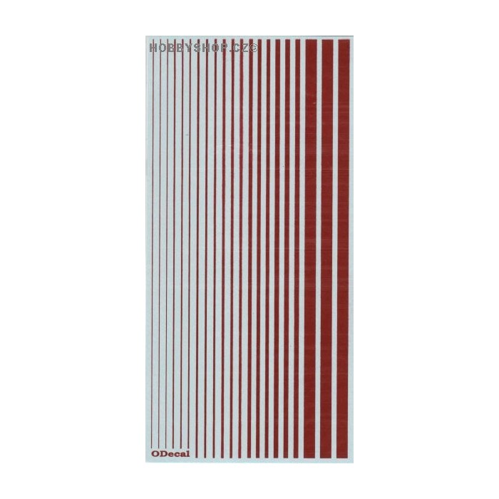 Insignia Red (F.S.11136) Slim Strips