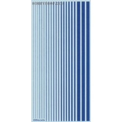 French Blue (F.S.15180) Slim Strips