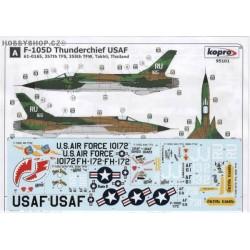 F-105D Thunderchief Vietnam Era - 1/72 decal