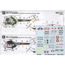 Mil Mi-2 Warsaw Pact & Air Force - 1/72 decal