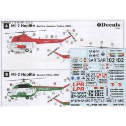 Mil Mi-2 Post Cold War & Exotic Schemes - 1/72 decal