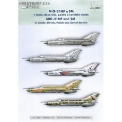 MiG-21MF/SM - 1/48 decals