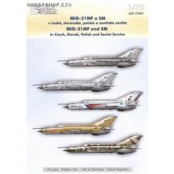 MiG-21MF/SM - 1/72 decals