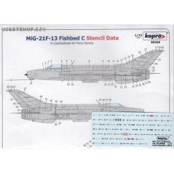 MiG-21F-13 Fishbed C Stencils - 1/72 decal