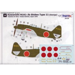 N1K1-Jb Shiden Type 11 - 1/72 decal