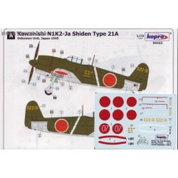 N1K2-Ja Model 21A Bomber - 1/72 decal