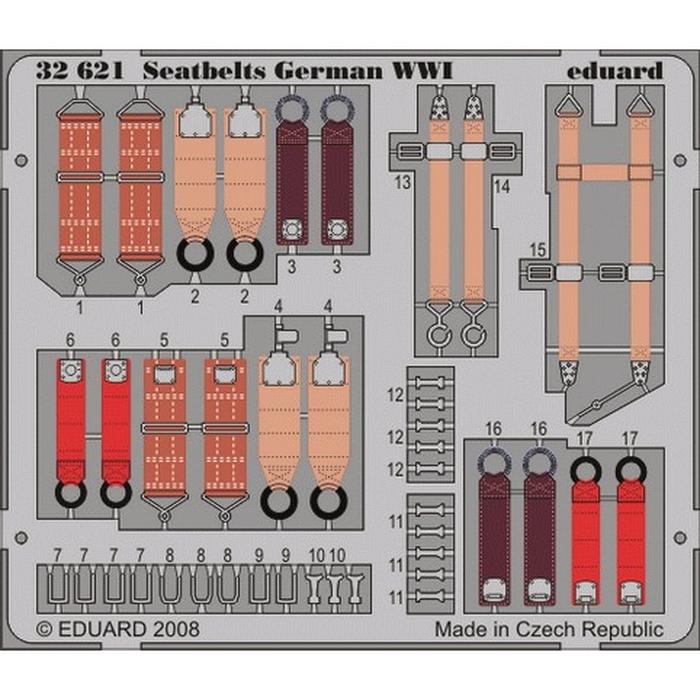 Seatbelts German WWI – Painted set