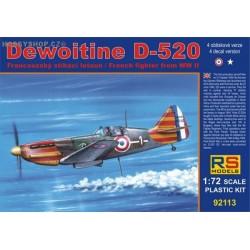 Dewoitine D.520 Vichy - 1/72 kit