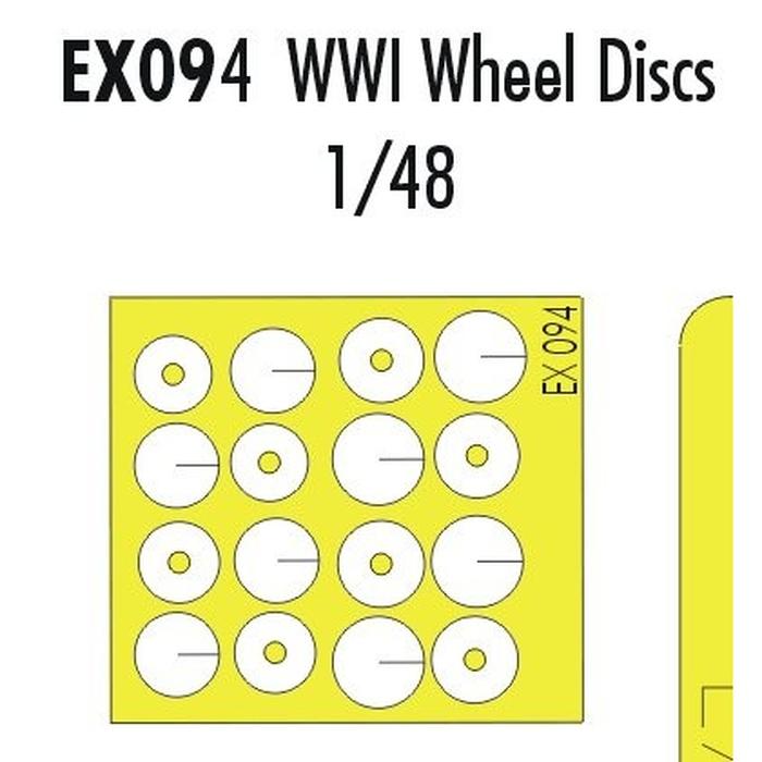 WWI Wheel Discs  1/48
