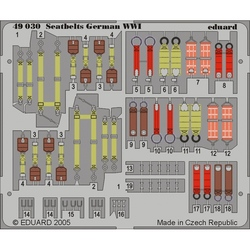 Seatbelts German WWI - Painted - 1/48 PE set