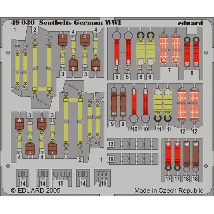 Seatbelts German WWI – Painted set
