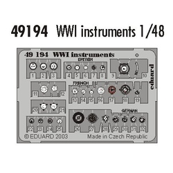 WWI Instruments - Painted - 1/48 PE set