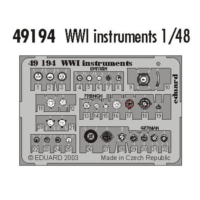 WWI Instruments – Painted set
