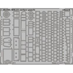 MiG-21 surface panels S.A. - 1/48 PE set