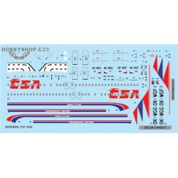 Boeing 737-400 Czechoslovak Airlines - 1/144 decal
