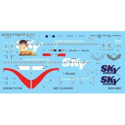 Boeing 737-300 Sky Europe/Muriel - 1/144 decal