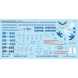 Boeing 737-300 Slovak Airlines - 1/144 decal