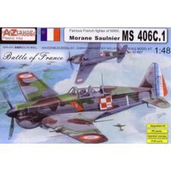 Morane Saulnier MS-406C.1 Battle of France - 1/48 kit